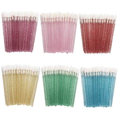Vegena Monouso Labbro Pennelli, 300 Pezzi Pennello Labbra Lip Gloss Rossetto Lucido Bacchette Applicatore Trucco Attrezzi Kit per Extension Ciglia, Trucco, Orale e Dentale