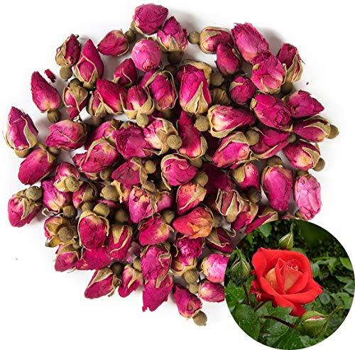 TooGet Fragranti Gemme di Rose Rosse Naturali Petali di Rosa Fiori Secchi All'ingrosso - 115g