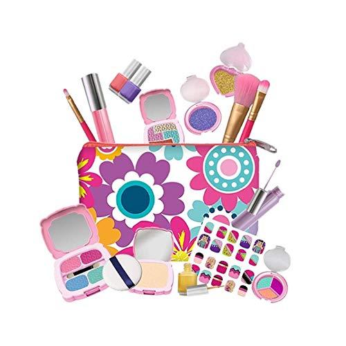 19PCS Princess Make Up Kit - Set Trucco per Bambini Sicuro Non tossico con Borsa alla Moda - Trucco Finto Lavabile Giocattoli Cosmetici per Ragazze - Kids Play Makeup Starter Beauty Set