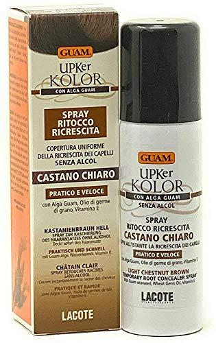 Guam UPKer Kolor Spray Ritocco Ricrescita - Castano Chiaro - Copertura uniforme. Senza Alcol