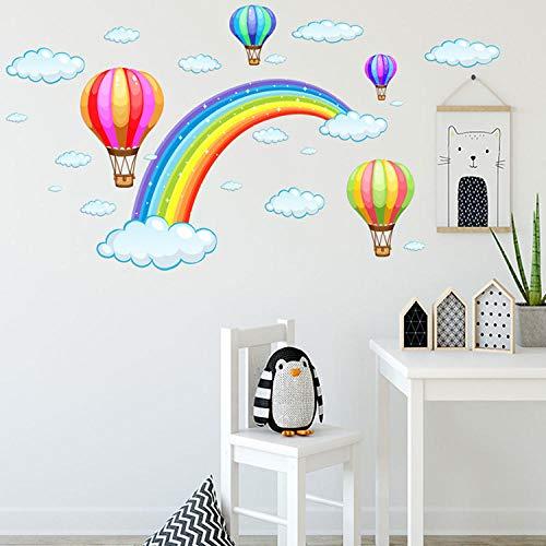 Cartone animato mongolfiera parete tatuaggio modello decal wall sticker fai da te intaglio camera dei bambini cucina decorazione carta da parati scuola materna in vinile