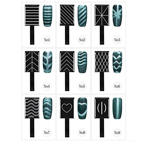 9Pcs/Set Gel per unghie magnetico, 3D Cat Eye Magnetico smalto LED Soak Off UV Gel Magnete Stick Manicure Strumenti per nail art