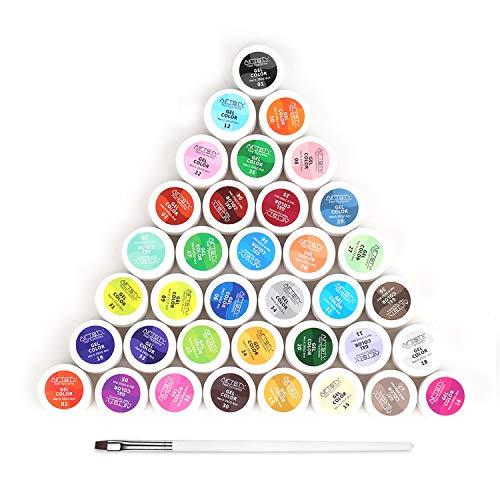 Gel colorati UV, Anself 5ml 36 colori Moda donna Fototerapia Colla per unghie UV/Led Lampada Kit per smalto per unghie