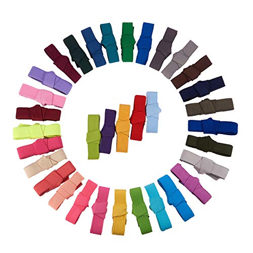 BENECREAT 34M (37 Yards) Ribbon Elastic Foldover Elastici Stretch Foldover FOE Elastici per Hair Ties Fasce - 34 Colori per 1 M