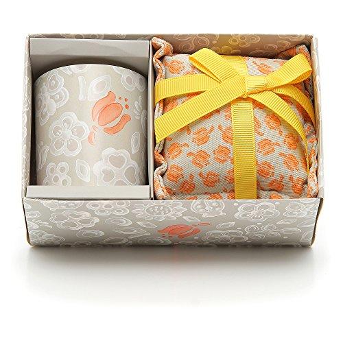 THUN Everyday Set Candela Piccola + Cuscino Grande Tulip, Ceramica, Variopinto