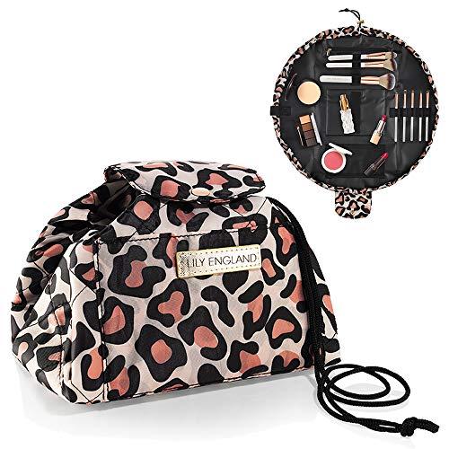 Lazy Bag Porta Trucchi con Chiusura a Coulisse Lily England – Borsetta per Cosmetici Espandibile / Organiser per Articoli da Toeletta- Borsa Makeup da Viaggio & Borsa Termica Isolante, Animali