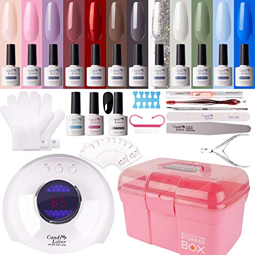 Kit di manicure per smalto gel – Candy Lover 36 W UV LED lampada per asciugare le unghie 15 pz smalto semipermanente set base top coat Nail Art accessori set set 01