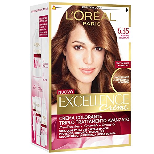 3 X L'OREAL EXCELLENCE CREME 6.35 MARRON CHOCOLAT Tintura per capelli