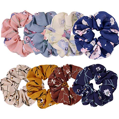 Elastics - Elastico per capelli in chiffon, per coda di cavallo, colore casuale, colore: casuale