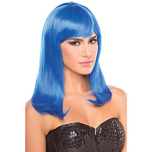 Be Wicked Wigs Parrucca Hollywood - Blu 200 gr