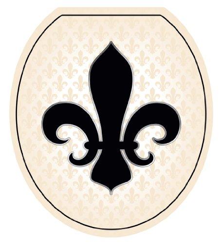 Toilette TT-1058-R - Tatuaggio rotondo con giglio francese, colore: Nero e Crema