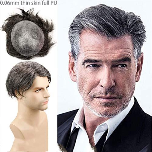 NIULLA Parrucca da Uomo con Sistema di Sostituzione Maschile per Capelli Veri Europei E Americani Parrucca da Uomo 100% Capelli Umani