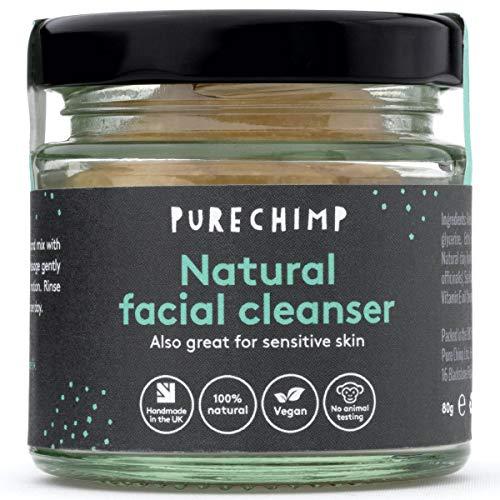 Detergente Viso Naturale (Detergente Super Naturale )80g by PureChimp - 100% naturale, vegano e fatto a mano nel Regno Unito - Ottimo anche per la pelle sensibile - Con estratto di banana