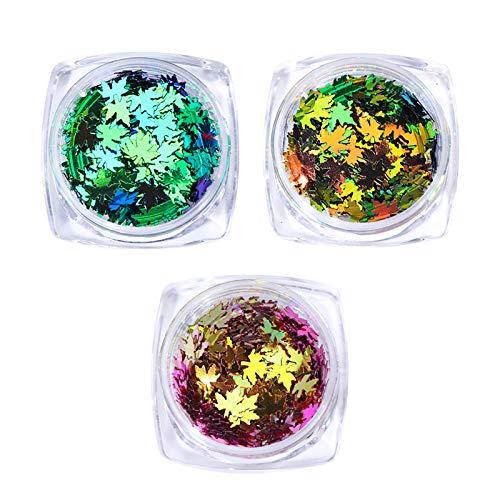 Jie Du 3 Scatole Sottile Nail paillettes Specchio Neon Polveri Manicure Nail Art Decorazione