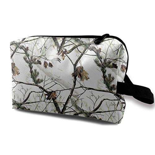 White Realtree Camo Toiletry Bag Waterproof Fabric Cosmetic Bags Travel Case For Women's Accessories
