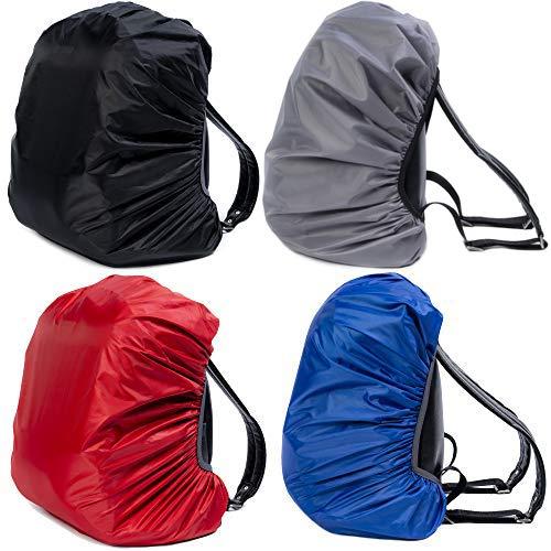4 Pezzi - Coperture Parapioggia Impermeabili per Zaino -(30-40L) Copri Zaino Robuste e Resistenti - Antipioggia, Antipolvere, Antifurto - Perfetto per i Viaggi Escursionismo Campeggio Ciclismo
