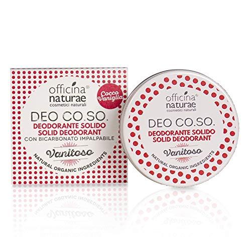 Officina Naturae DEO CO.SO. Vanitoso Cocco Vaniglia Deodorante Solido Bio Plastic FRee Con Bicarbonato 50 ml…