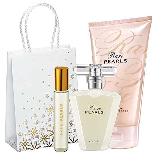 Avon Rare Pearls Set Eau de Parfum Spray + lozione per il Corpo + Borsa