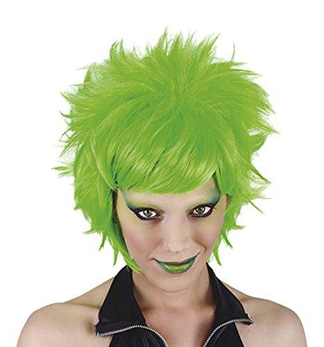 Rubie's Funny Costumes – Parrucca Crazy, da adulto, colore: verde fluo, taglia unica Spain S1533