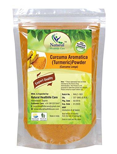 Natural Healthlife, Curucuma Aromatica 100% naturale, (polvere di radice)(Curcuma Longa), in polvere (227g)