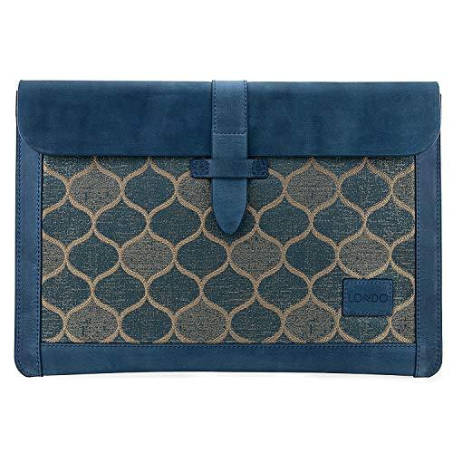 Londo Vera Pelle Custodia per laptop borse compatibilie con MacBook Pro e MacBook Air - 15 pollici - 15,5 pollici - 16 pollici - Compatibile con i modelli M1 e 2020