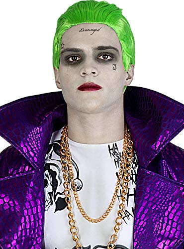 Funidelia   Parrucca del Joker - Suicide Squad Ufficiale per Uomo ▶ Supereroi, DC Comics, Cattivi - Multicolore, Accessorio per Costume