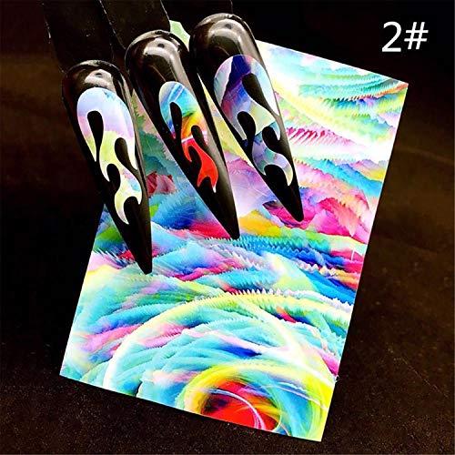 Adesivi 3D per unghie Pop Cartoon Pattern Sliders Per unghie Adesivo fai da te Manicure Suggerimenti Nail Art Sticker Tipo 18