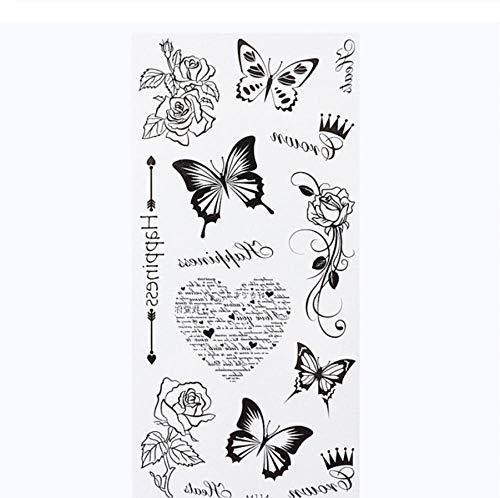 ytrewq Fiori Braccia Tatuaggio colorato Taty Body Art Impermeabile Tatuaggio temporaneo Adesivi Rosa Tatuaggio Finto Orchidea Tatouage-G