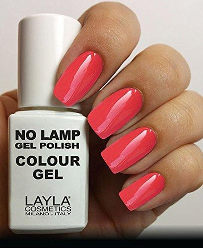 Layla Cosmetics Milano Lamp Gel Polish-Smalto per le unghie Rich, colore: corallo