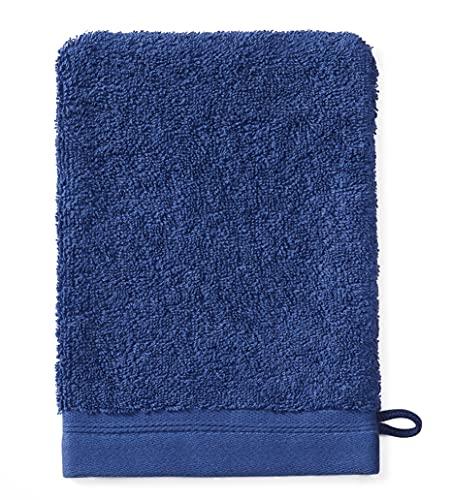 Sowel® Manopole da Bagno in 100% Cotone Biologico, Prodotto in Portogallo, 15 x 21, Blue Navy