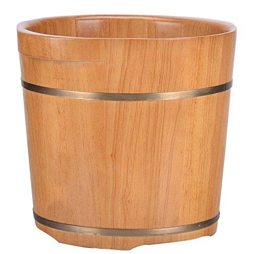 ERHANG Saune Bacino Di Pedicure Legno Vento Pediluvi Barile Di Quercia Piede Vasca Barile 35cm Intensificare In Legno Pediluvio In Legno Piede Barile Bacino Di Legno Solido