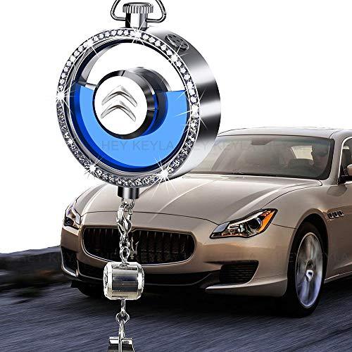 HEY KEYLA Auto Logo Deodorante Specchietto retrovisore Ciondolo Profumo per Auto Emblema Pendente in Cristallo Ornamento, Rimuovi l'odore dell'auto, per Citro-en