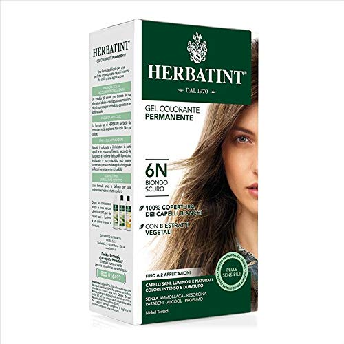 Herbatint Gel Colorante Permanente 6N Biondo Scuro 150 ml
