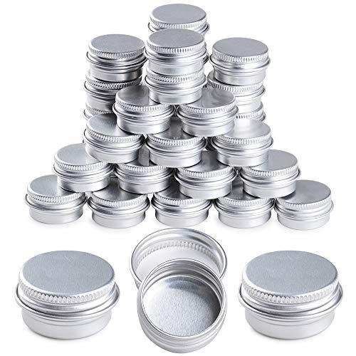 35 pezzi 5ml Vasetti Alluminio Vuoti Lattine Contenitori Piccoli Vasi Metallo Latta Barattoli con Coperchio Fai da Te