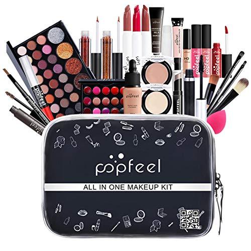Set Trucco Professionale con Ombretti - Set di trucco con ombretti Kit di cosmetici correttore rossetto per donne ragazze