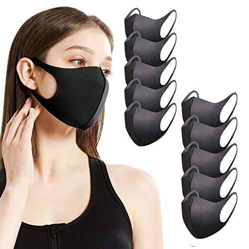 Sb Components - Mascherina antipolvere per viso e bocca, riutilizzabile, lavabile, unisex, anti-inquinamento, 10 pezzi