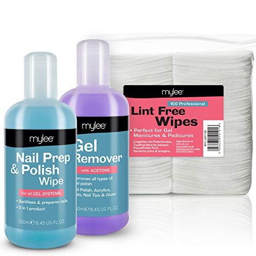 Mylee Prep & con levapunti & Wipe-Confezione di salviette LED UV semipermanente Soak-Off Gel, nuovo