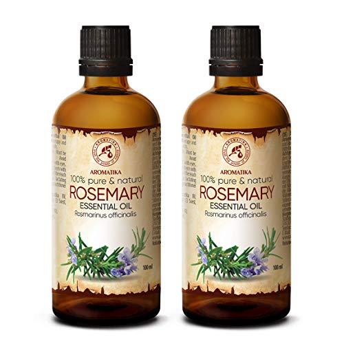 Olio Essenziale di Rosmarino - 200ml - Rosmarinus Officinalis - Oli Essenziali per Aromaterapia - Profumatore per Ambienti - Olio per Corpo - Integratori per Capelli - Aromi per Diffusori