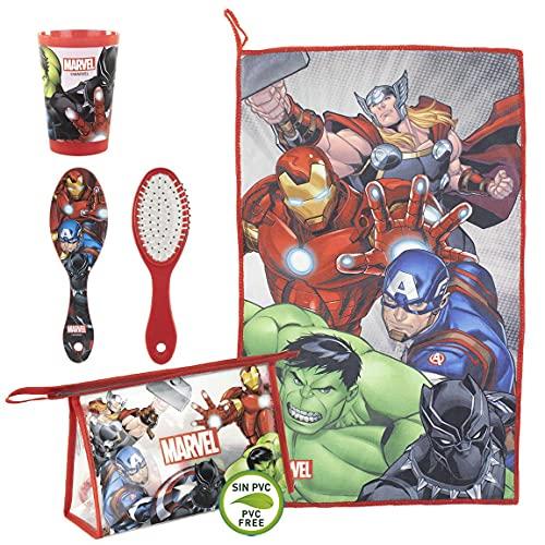 Cerdá - Beauty Case da Viaggio per Bambini di Avengers - Licenza Ufficiale Marvel