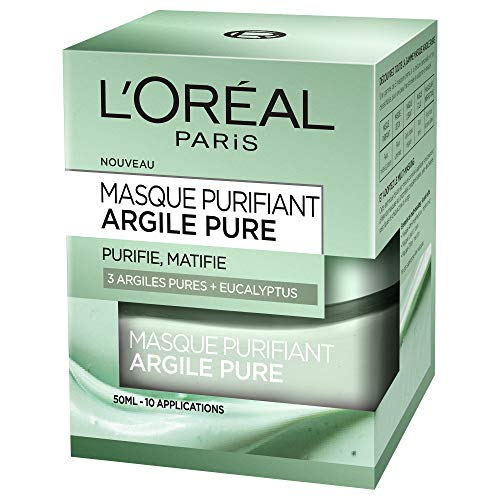 L'oréal Paris, Maschera Viso purificante e opacizzante, all'argilla/All'Eucalipto 50ml