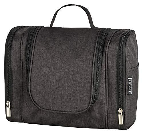 B.PRIME Beauty Case CLASSIC XL Nero - Necessaire spazioso da appendere - 28 x 13 x 22 cm