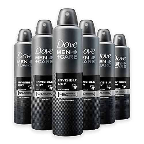 Dove Men+Care DMC Deodorante Spray Uomo Invisible Dry, 6 Pezzi da 250 ml