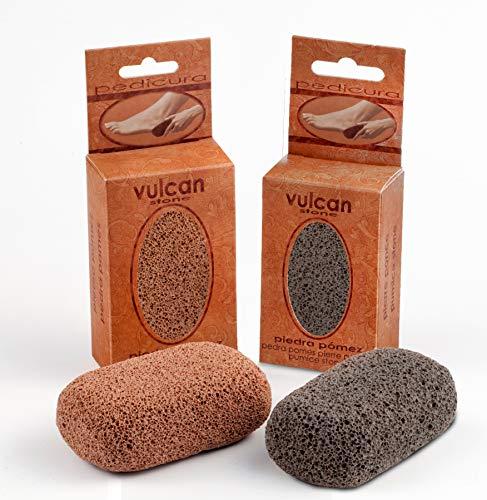 Vulcan - Pietra pomice per piedi e mani, confezione da 2 pezzi