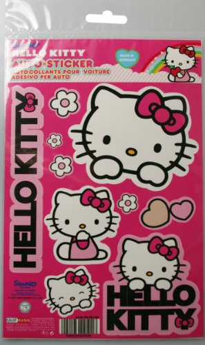 Hello Kitty HK-KFZ-101 - Set Adesivi per Auto