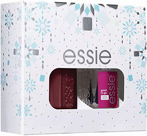 Essie Kit Manicure Effetto Semipermanente Edizione Limitata, Smalto + Top Coat, Bordeaux + Good to Go