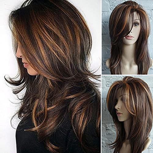 Fovermo Parrucca capelli naturali biondo Ombre per donne Drak (4)