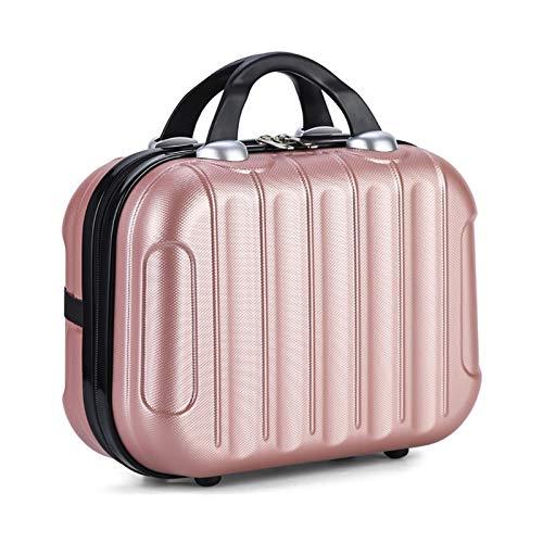 Borsa per Cosmetici Portatile Borsa da Viaggio Impermeabile Trucco Cosmetici Storage Case Viaggiare Fino Mini Corsa Valigia Elastico Cinghie Beauty Case Organizer (Color : Rose Gold)