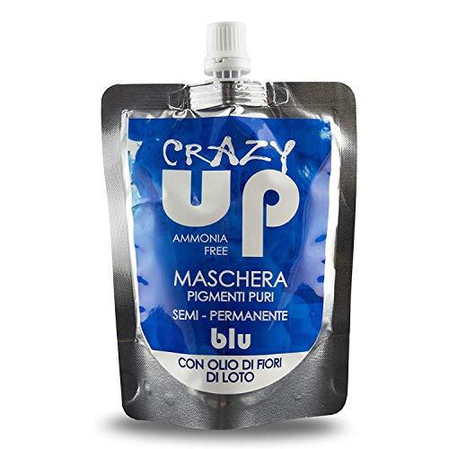 Crazy Up Maschera Colorante Senza Ammoniaca Semipermanente per Capelli - Blu - 200 ml