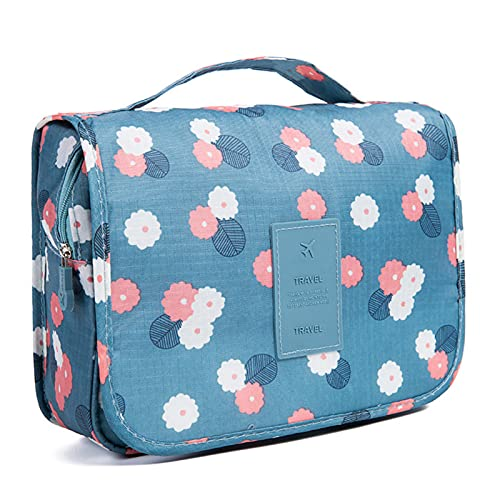 DOCX Hanging Travel Toiletry Bag, Ladies Cosmetic Bag with Compartments, Toiletries Organiser, Travel Camping Holiday Essentials, 9,44 x 7,48 x 3,93 inch