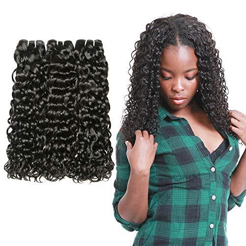 LVY capelli veri capelli umani brasiliani dell'onda d'acqua Virgin human hair 3 bundles extension capelli veri 18 20 22 pollice